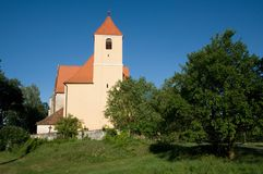 Church in village Blanice, Czech republic, Stock Photography