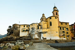 Church in the Village of Camogli Stock Photo