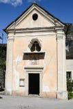 Church at village of Corippo on Verzasca valley Stock Image