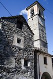 Church at village of Corippo on Verzasca valley Royalty Free Stock Photos