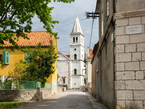 Church in a Village in Croatia, Zlarin Island royalty free stock photo