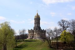 Church, village Dubrovicy (Moscow region). Church, village Dubrovicy, Architecture, historic building royalty free stock images