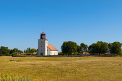 Church in the village Gardby on the island Oeland, Sweden Royalty Free Stock Photo