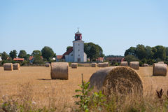 Church in the village Gardby on the island Oeland, Sweden Royalty Free Stock Photos