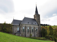 Church,village - Gold Mountains. Old church, village - Gold Mountains, the Czech Republic Royalty Free Stock Photo