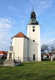 Church, village Havraniky, Czech Republic, Europe Royalty Free Stock Images