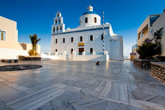 Church at village Oia, Santorini Stock Photo