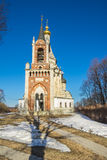 The church in village Ostrov near Moscow Stock Images