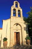 Church in village Panormo at Crete, Greece Stock Photo