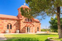 Church in the village of Pilon (Pylonas). Rhodes Royalty Free Stock Photography