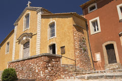 Church in village of Roussillon (France) Royalty Free Stock Photos