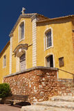 Church in village of Roussillon (Provence , France) Stock Images