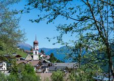 Church of the village in South Tyrol, Telves Racines, Trentino Alto Adige, Italy. Church of the village in South Tyrol, Telves Racines, Trentino Alto Adige royalty free stock photo