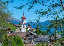 Church of the village in South Tyrol, Telves Racines, Trentino Alto Adige, Italy. Church of the village in South Tyrol, Telves Racines, Trentino Alto Adige stock photography
