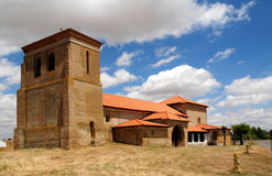 Church in village Villarmentero de Campos Royalty Free Stock Images