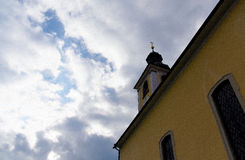 Church in village Royalty Free Stock Images
