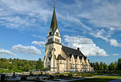 Church of Vindeln - Lapland, Sweden Royalty Free Stock Photo