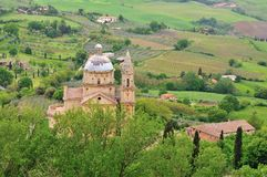 Church in the vineyards Royalty Free Stock Image