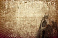 Church vintage background (horizontal) Royalty Free Stock Images