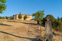 Church of the Virgen del Camino. Santo Domingo de Silos, Burgos, Spain royalty free stock photography