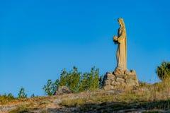 Church of the Virgen del Camino. Santo Domingo de Silos, Burgos, Spain royalty free stock photo