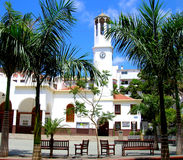 Church of Virgen del Carmen in Los Cristianos,Tenerife. Royalty Free Stock Images