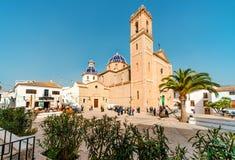 Church of the Virgin de Consuelo in Altea town, Spain Stock Image