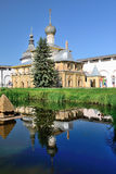 Church of Virgin the Hodegetria in Rostov Kremlin Russia with specular reflection. Stock Photography