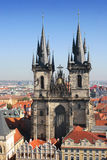 Church of Virgin Maria. Before Tyn, Prague, Czech republic Royalty Free Stock Images