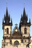 Church of Virgin Maria Before Tyn Stock Photos