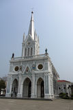 The Church of the Virgin Mary of Asanawihan Maephrabangkerd. Located in Smuthprakhan, Thailand Stock Photos