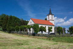 Church of the Virgin Mary of Czestochowa. Swidnik, Poland - June 14, 2015: The Evangelical Church of pseudo baroque of the early nineteenth century. He is Stock Photos