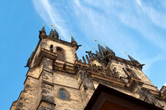 Church of the Virgin Mary. The main church of old town of Prague Czech Republic stock image