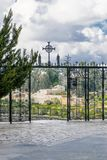 Church of visitation gate. With the view Stock Image