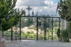 Church of visitation gate. With a view Stock Photos