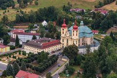 Church of the Visitation of the Virgin Mary in Hejnice stock photography