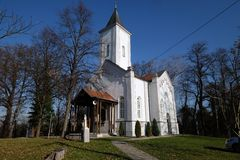 Church of Visitation of the Virgin Mary in Sisak, Croatia.  royalty free stock photos