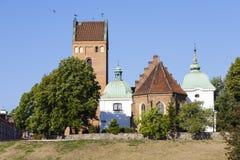 Church on the Vistula escarpment in Warsaw Royalty Free Stock Photo
