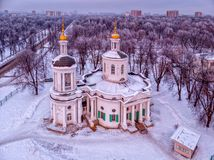 Church of the Vlacherna Icon of the Mother of God in Kuzminki in stock photography