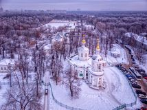 Church of the Vlacherna Icon of the Mother of God in Kuzminki in royalty free stock image