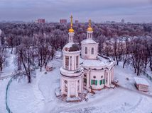 Church of the Vlacherna Icon of the Mother of God in Kuzminki in royalty free stock photography