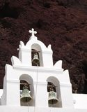 A Church and a Volcano Stock Photos