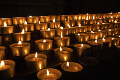 Church Votive Candles Stock Photography