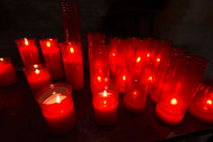 Church Votive Candles Stock Photo