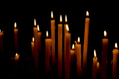 Church Votive Candles Stock Photos