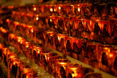 Church votive candles Royalty Free Stock Photography