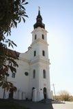 Church in Vukovar. Beautiful church illuminated with sun in Vukovar royalty free stock photo