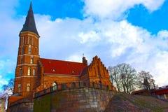 Church of Vytautas in old town. Kaunas, Lithuania Stock Photos