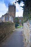 Church walk. The minster anglican church of saint mary parish of ilminster Royalty Free Stock Image