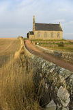 Church and wall. Traditional Scottish church in East Neuk of Fife, Scotland Stock Image